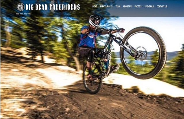 The Big Bear Freeriders team is excited to announce the launch of its new website:  BigBearFreeriders.com.  Laura Johnson of Shoreline Web Marketing in conjunction with Ali Hyde teamed up to build this site devoted to the Freeride Mountain Bike Team.